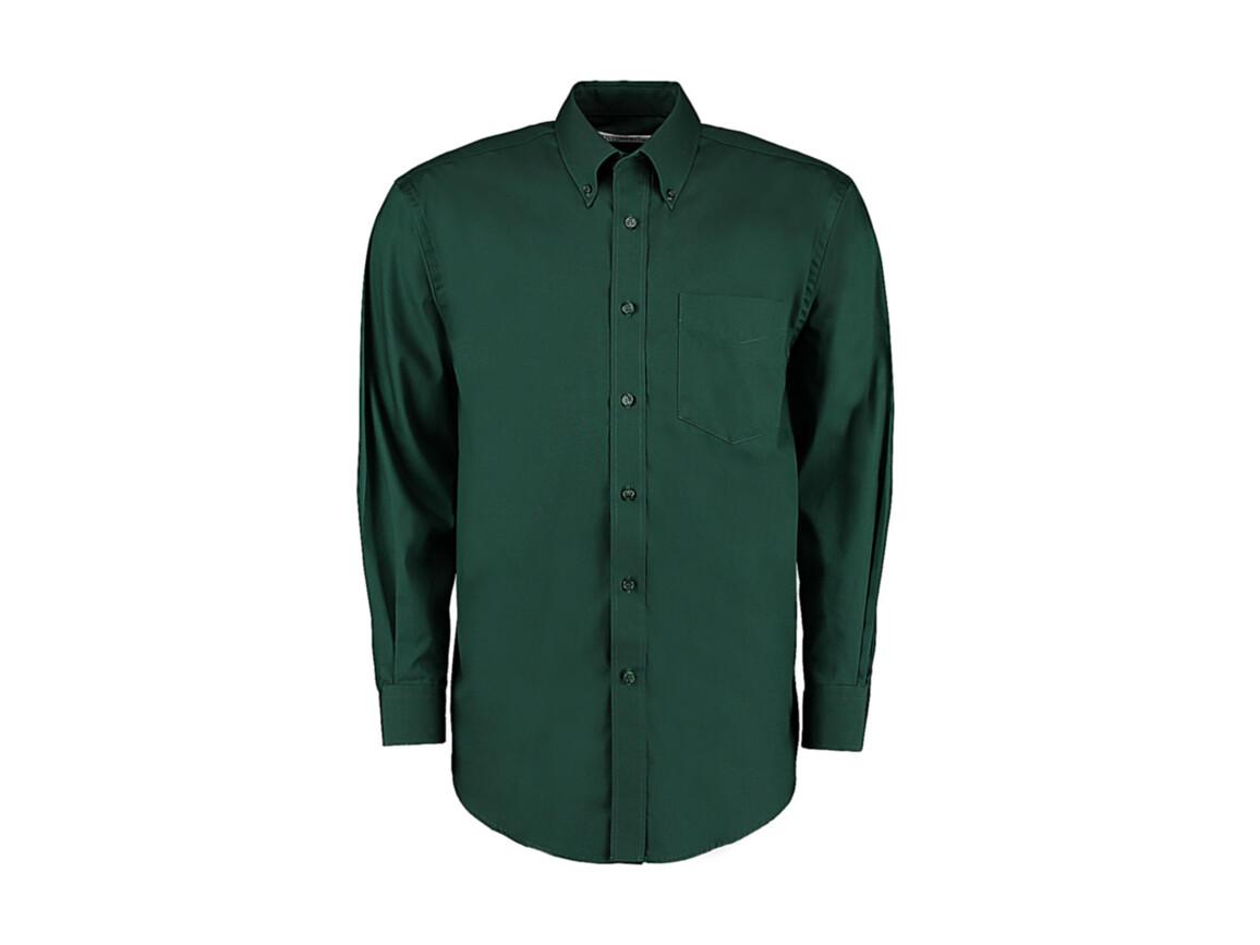 Kustom Kit Classic Fit Premium Oxford Shirt, Bottle Green, S bedrucken, Art.-Nr. 778115401