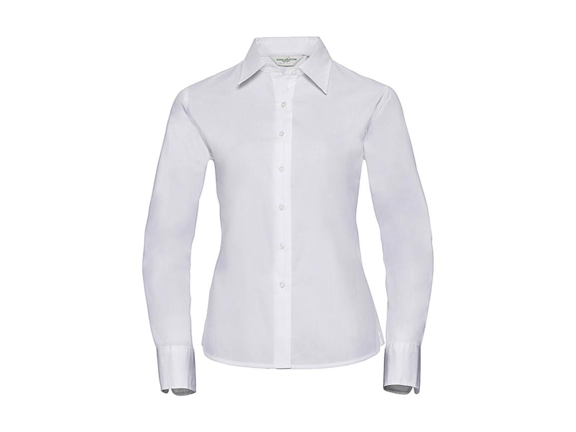 Russell Europe Ladies` Classic Twill Shirt LS, White, S (36) bedrucken, Art.-Nr. 779000003