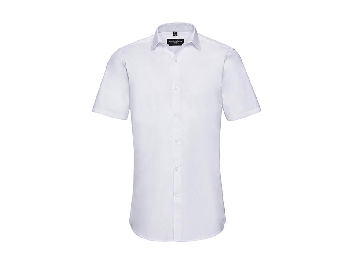 Russell Europe Men`s Ultimate Stretch Shirt, White, S bedrucken, Art.-Nr. 781000003