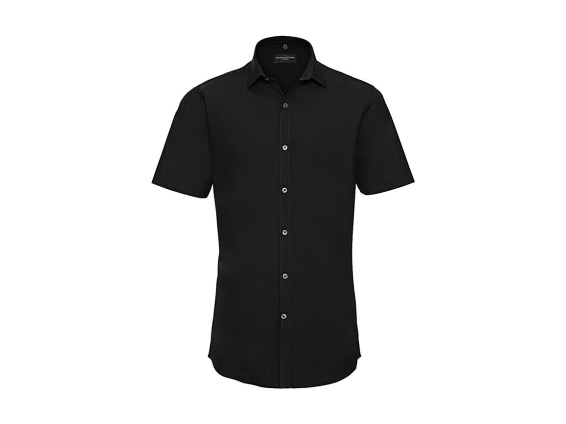 Russell Europe Men`s Ultimate Stretch Shirt, Black, S bedrucken, Art.-Nr. 781001013