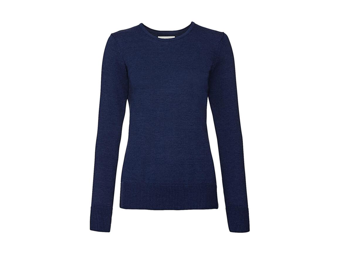 Russell Europe Ladies` Crew Neck Knitted Pullover, Denim Marl, S bedrucken, Art.-Nr. 782003173