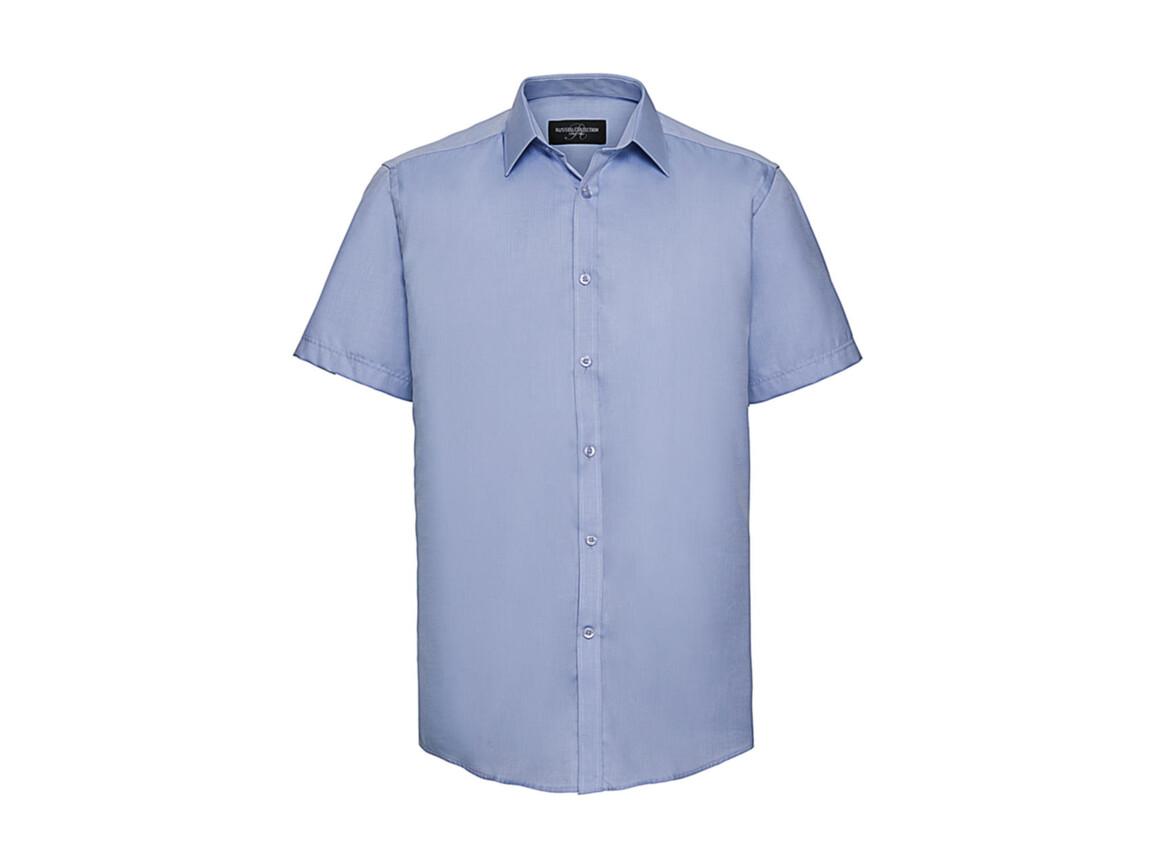 "Russell Europe Men`s Herringbone Shirt, Light Blue, XL (17.5"") bedrucken, Art.-Nr. 783003216"