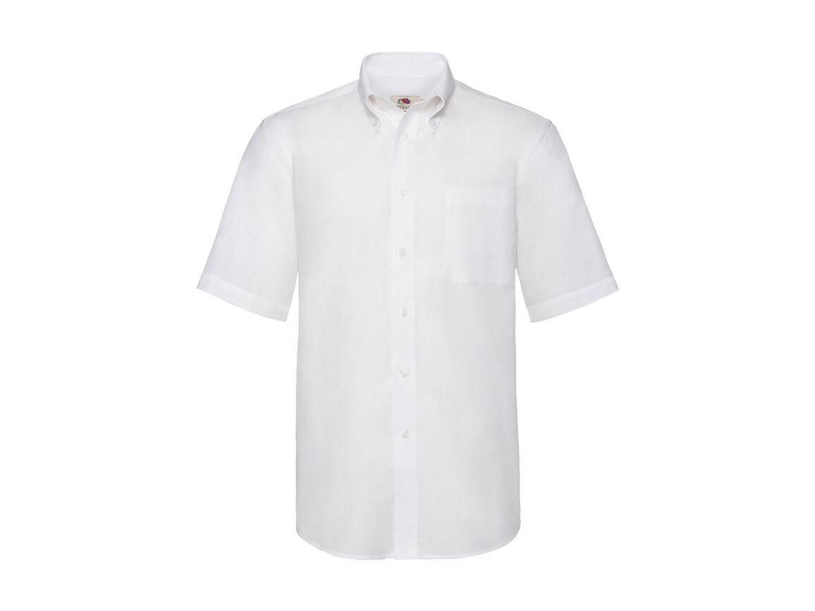 Fruit of the Loom Oxford Shirt, White, L bedrucken, Art.-Nr. 784010005