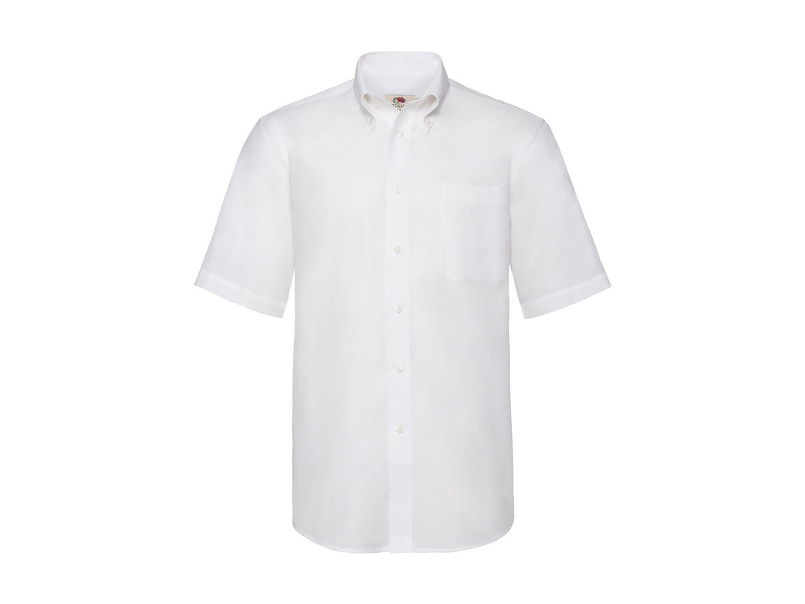 Fruit of the Loom Oxford Shirt, White, S bedrucken, Art.-Nr. 784010003