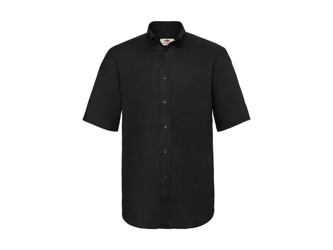 Fruit of the Loom Oxford Shirt, Black, 2XL bedrucken, Art.-Nr. 784011017