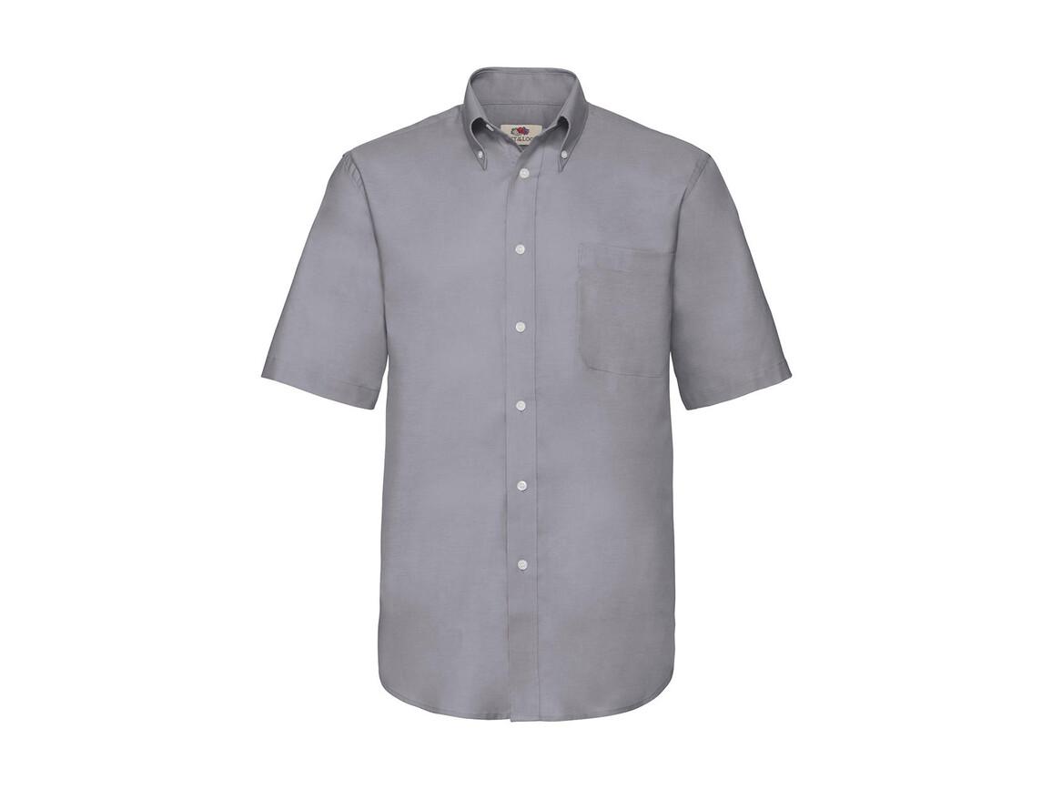 Fruit of the Loom Oxford Shirt, Oxford Grey, 3XL bedrucken, Art.-Nr. 784011148