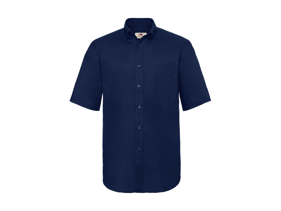 Fruit of the Loom Oxford Shirt, Navy, 2XL bedrucken, Art.-Nr. 784012007