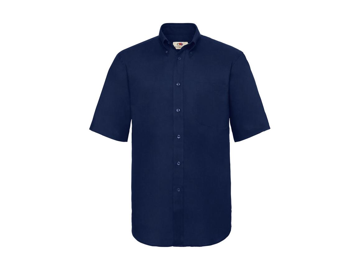 Fruit of the Loom Oxford Shirt, Navy, L bedrucken, Art.-Nr. 784012005