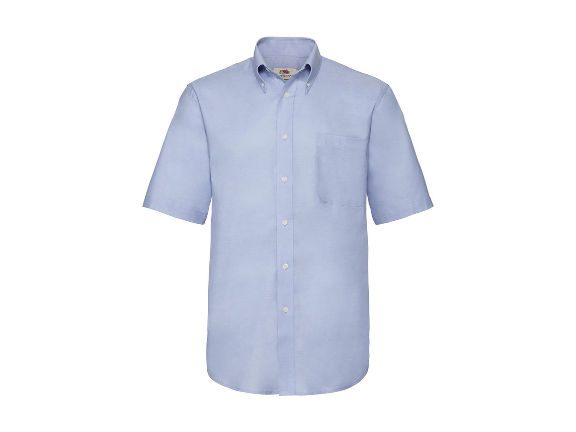 Fruit of the Loom Oxford Shirt, Oxford Blue, 2XL bedrucken, Art.-Nr. 784013267