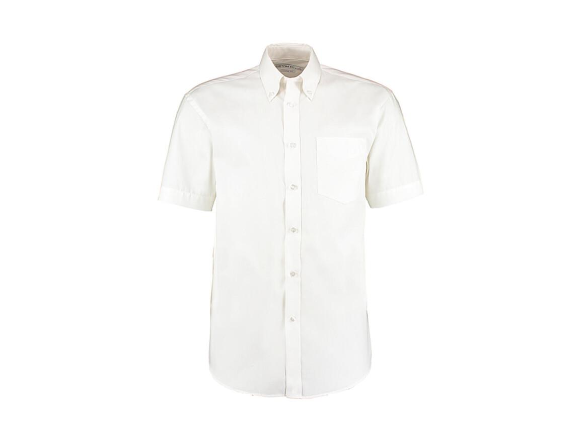 Kustom Kit Classic Fit Premium Oxford Shirt SSL, White, S bedrucken, Art.-Nr. 784110001