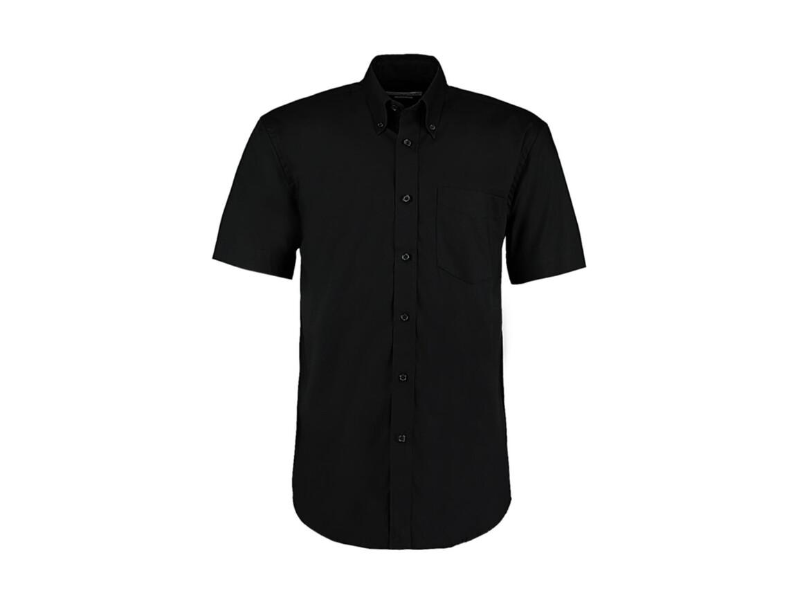 Kustom Kit Classic Fit Premium Oxford Shirt SSL, Black, L bedrucken, Art.-Nr. 784111015
