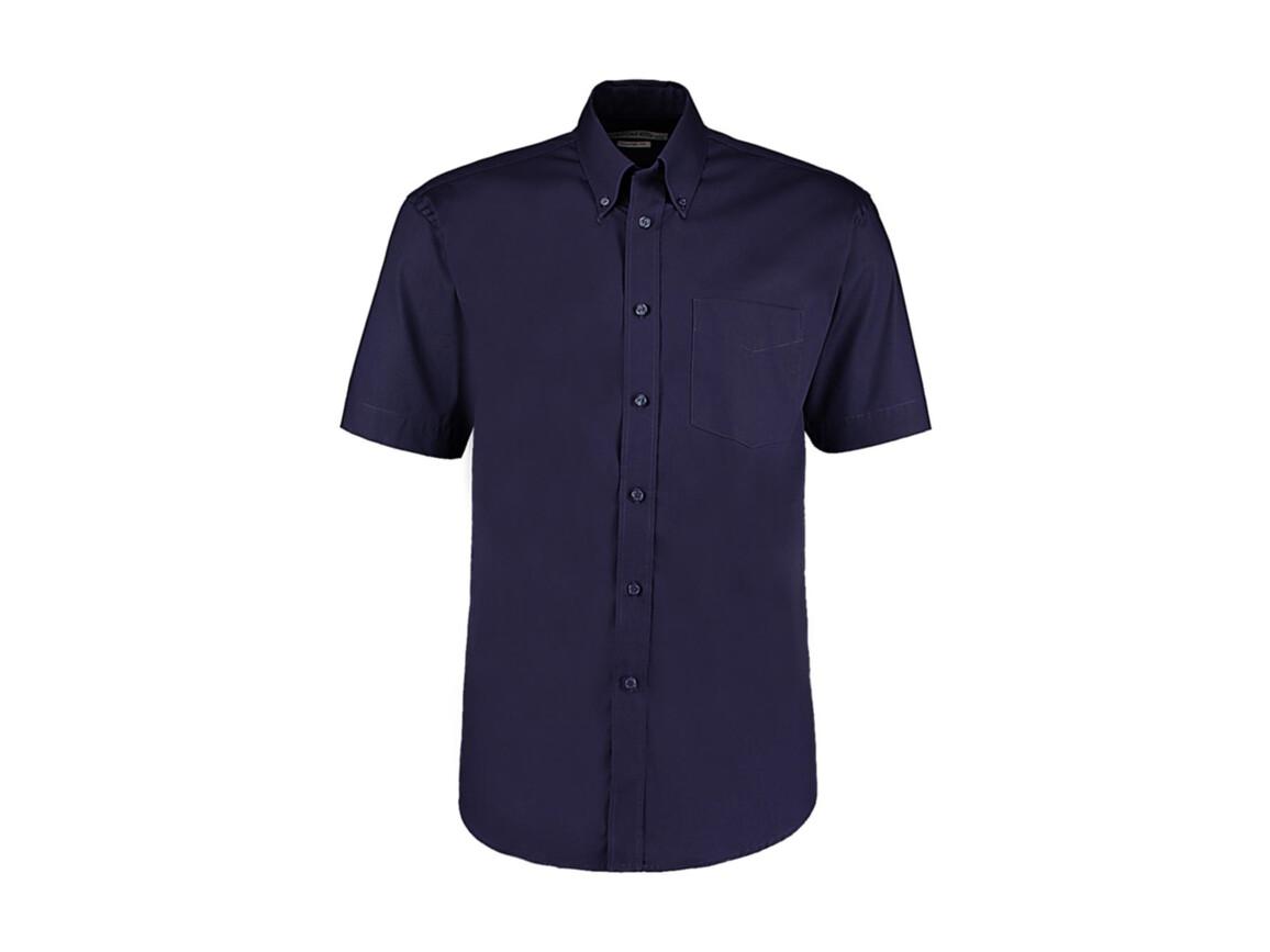 Kustom Kit Classic Fit Premium Oxford Shirt SSL, Midnight Navy, M bedrucken, Art.-Nr. 784112053