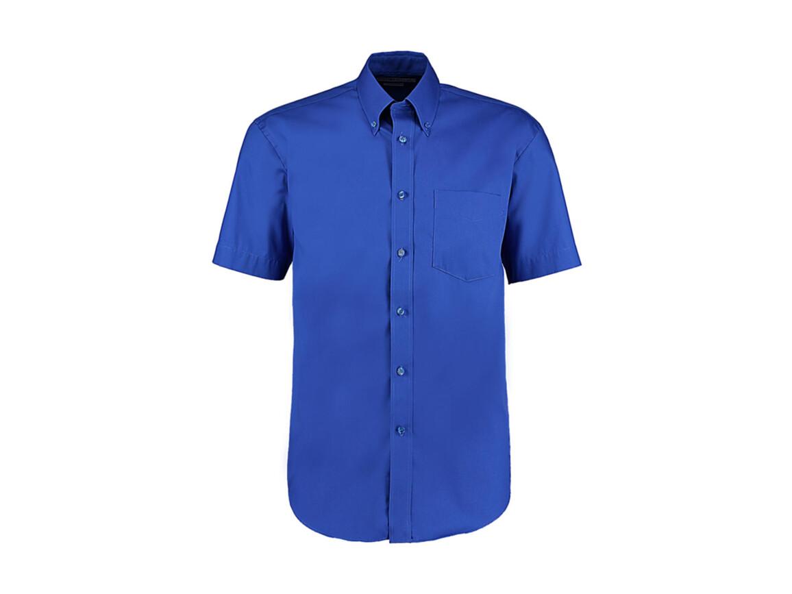 Kustom Kit Classic Fit Premium Oxford Shirt SSL, Royal, XL bedrucken, Art.-Nr. 784113007