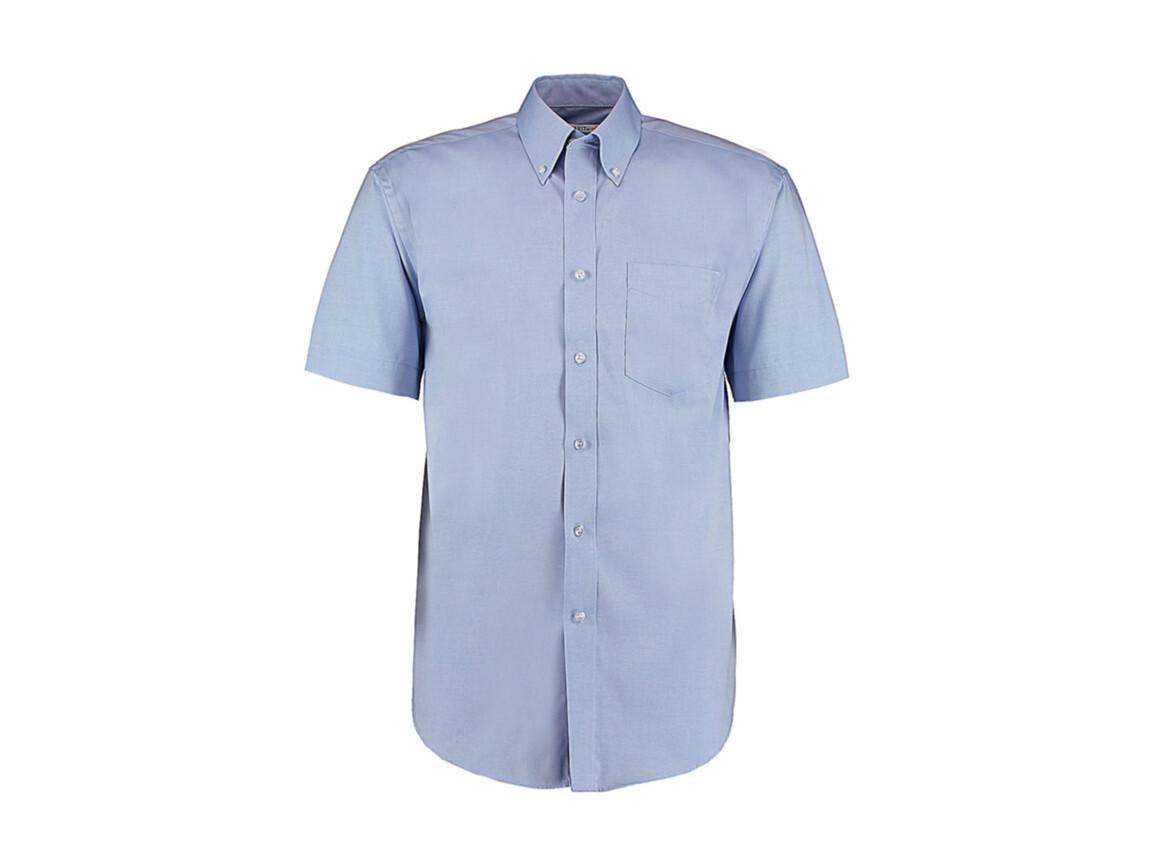 Kustom Kit Classic Fit Premium Oxford Shirt SSL, Light Blue, 2XL bedrucken, Art.-Nr. 784113219