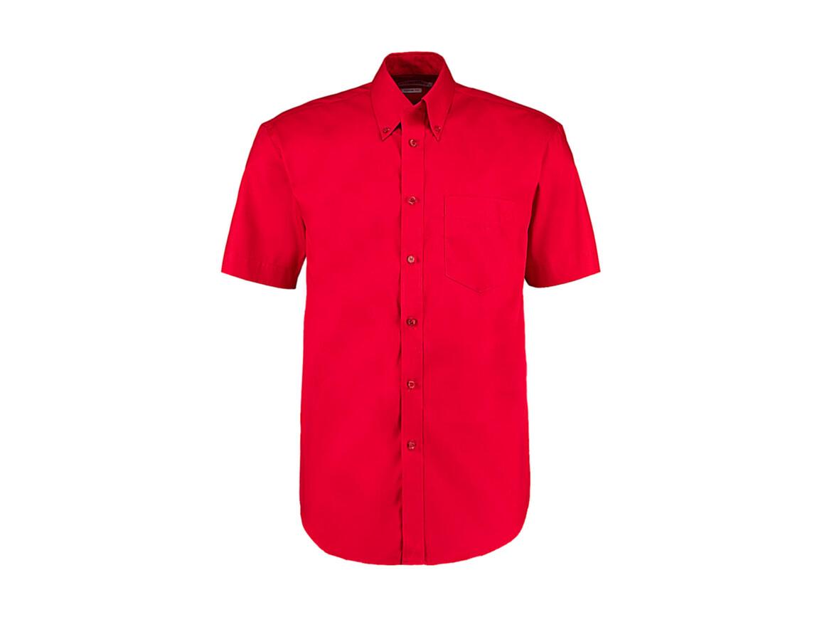 Kustom Kit Classic Fit Premium Oxford Shirt SSL, Red, 2XL bedrucken, Art.-Nr. 784114009