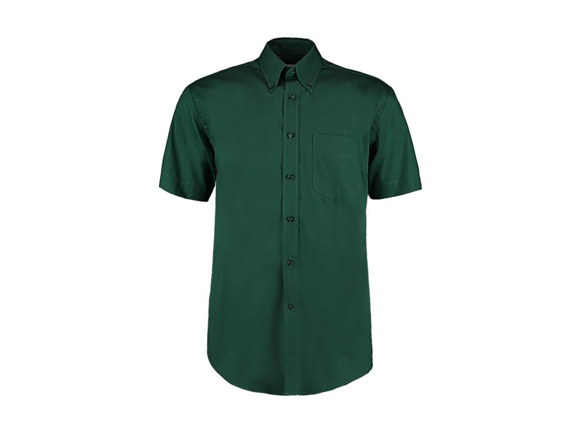 Kustom Kit Classic Fit Premium Oxford Shirt SSL, Bottle Green, 2XL bedrucken, Art.-Nr. 784115409