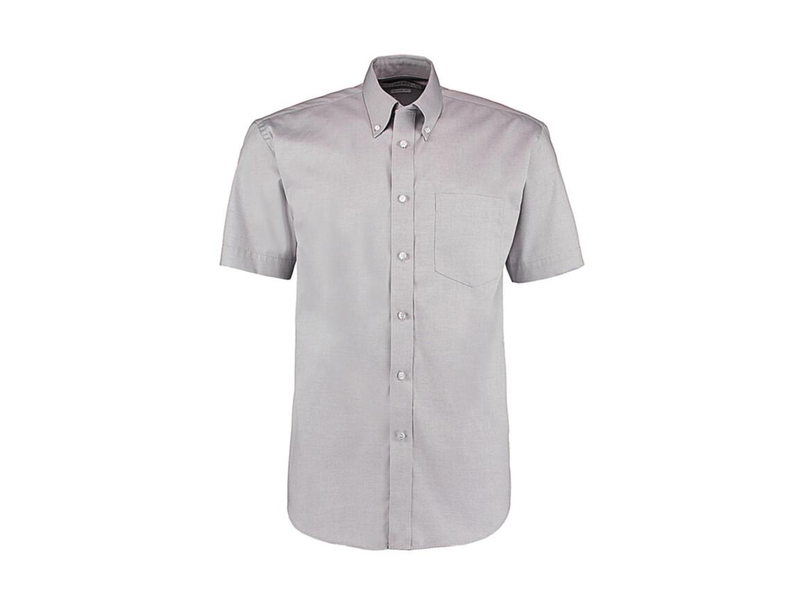 Kustom Kit Classic Fit Premium Oxford Shirt SSL, Silver Grey, L bedrucken, Art.-Nr. 784117135