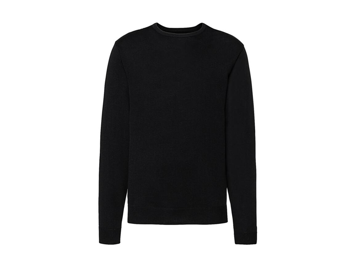 Russell Europe Men`s Crew Neck Knitted Pullover, Black, S bedrucken, Art.-Nr. 785001013