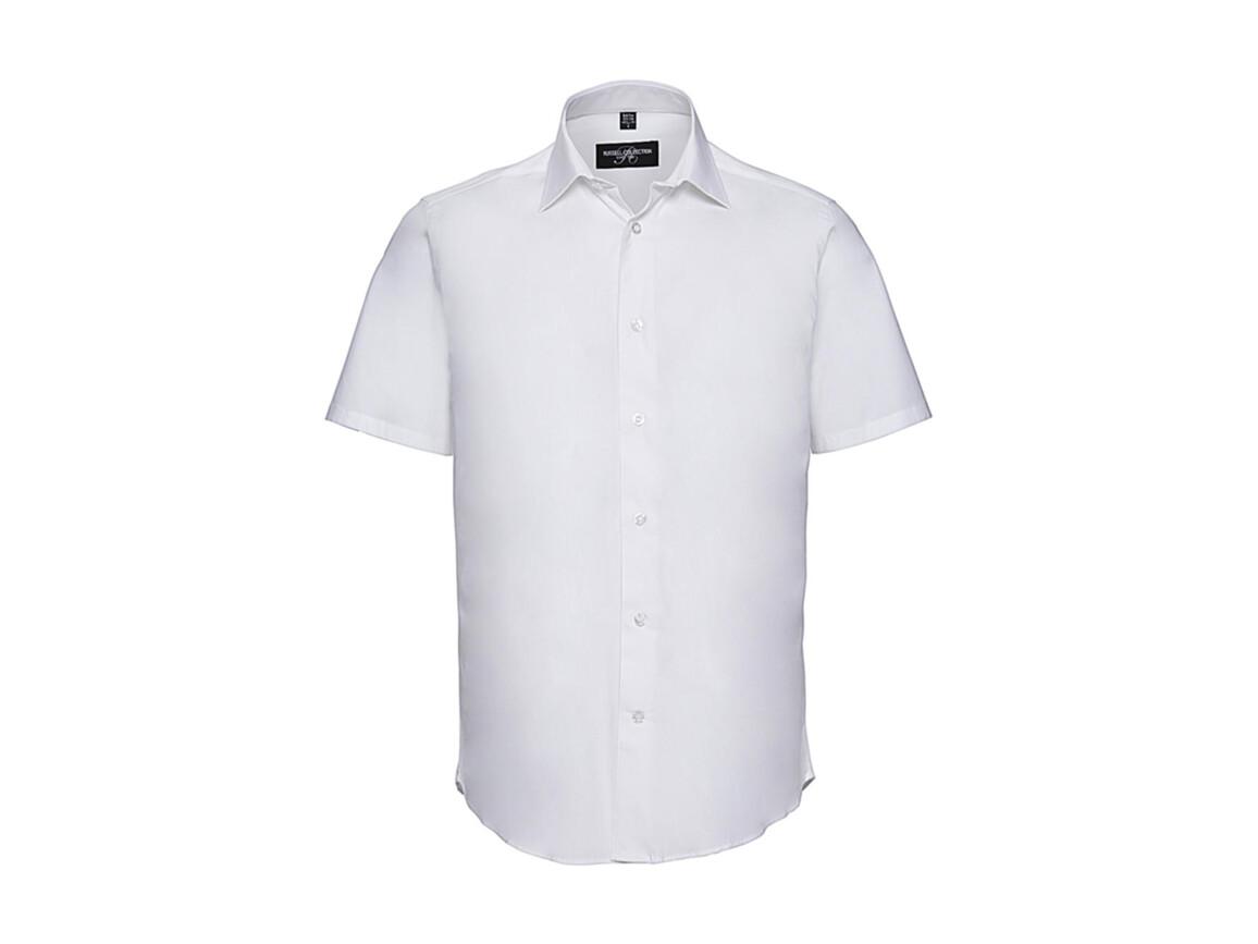 Russell Europe Fitted Stretch Shirt, White, M bedrucken, Art.-Nr. 787000004