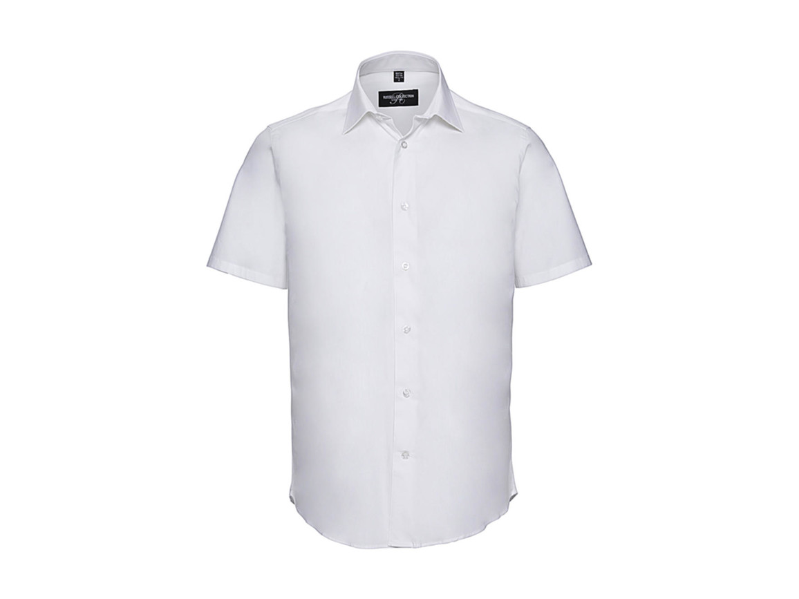 Russell Europe Fitted Stretch Shirt, White, S bedrucken, Art.-Nr. 787000003