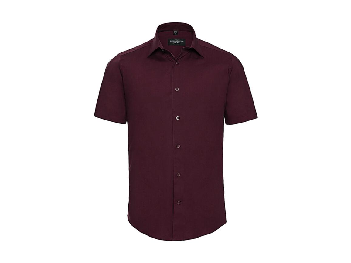 Russell Europe Fitted Stretch Shirt, Port, 4XL bedrucken, Art.-Nr. 787004499