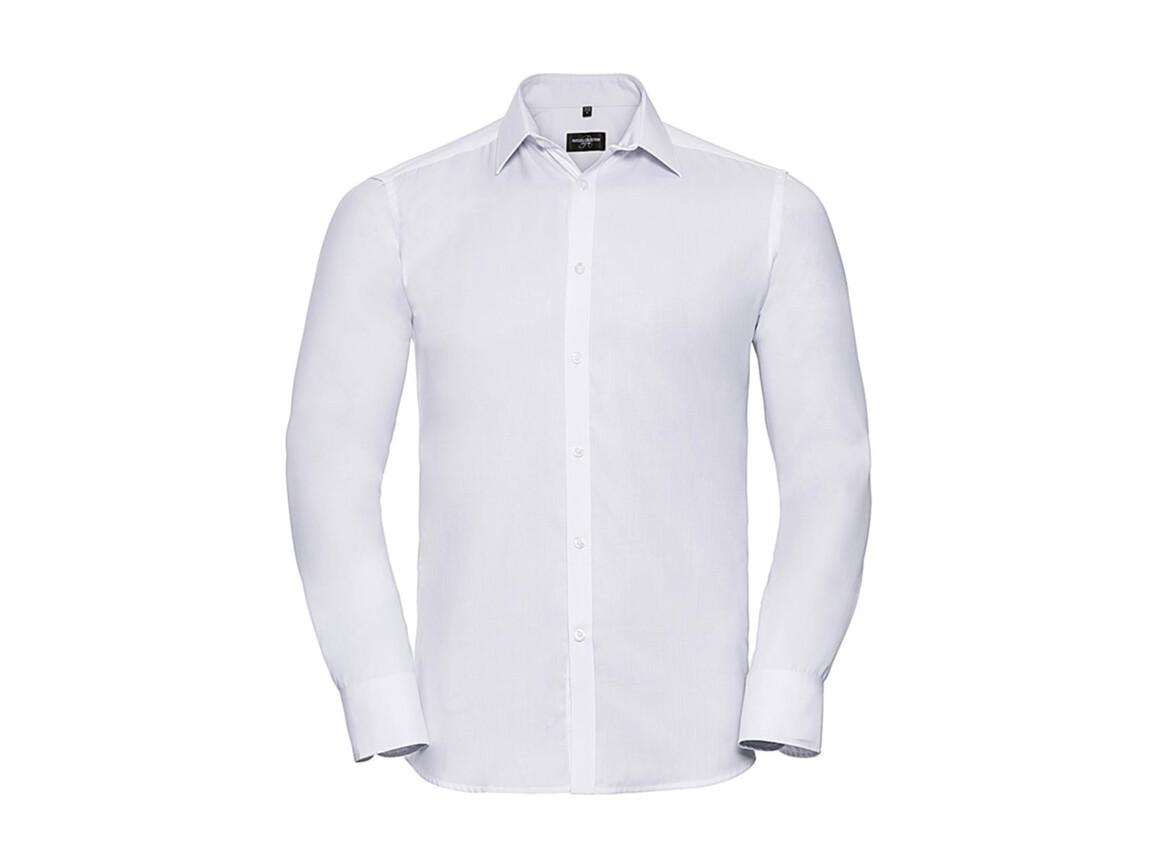 """Russell Europe Men`s LS Herringbone Shirt, White, L (16.5"""") bedrucken, Art.-Nr. 789000005"""
