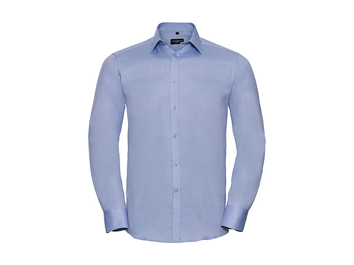 "Russell Europe Men`s LS Herringbone Shirt, Light Blue, L (16.5"") bedrucken, Art.-Nr. 789003215"