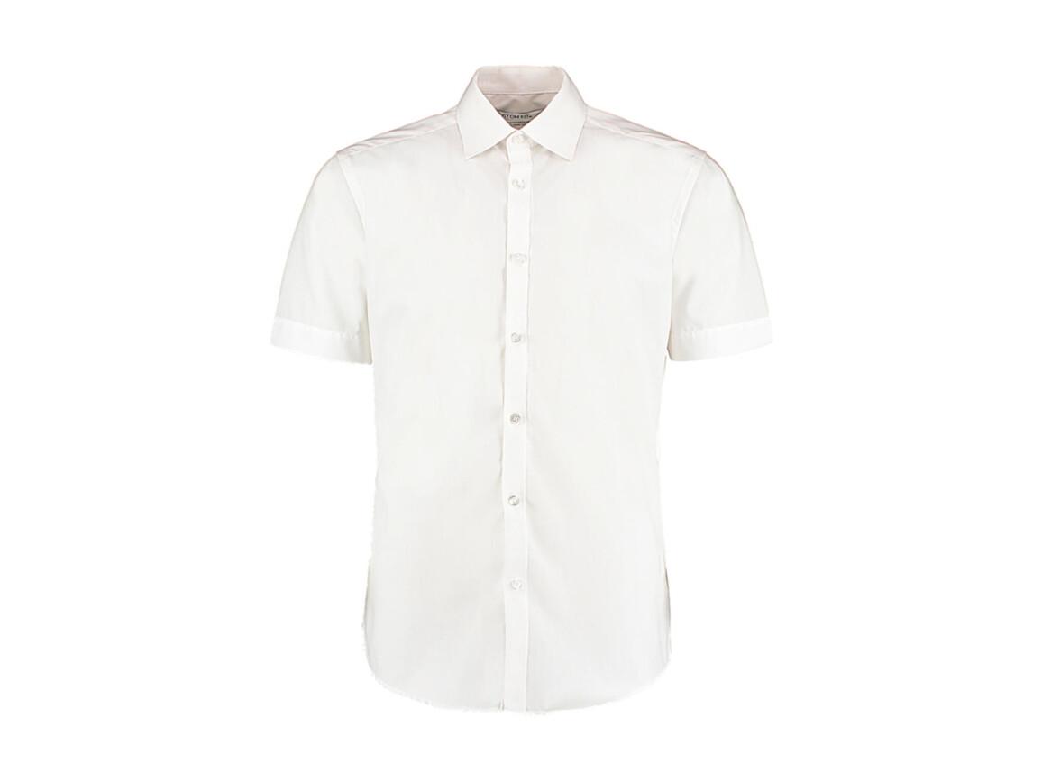 Kustom Kit Slim Fit Business Shirt, White, M bedrucken, Art.-Nr. 791110003