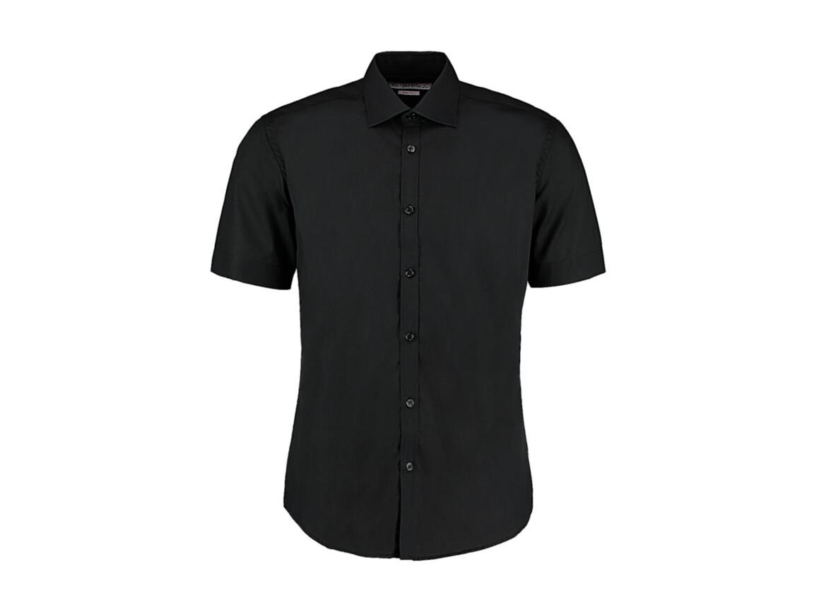 Kustom Kit Slim Fit Business Shirt, Black, L bedrucken, Art.-Nr. 791111015