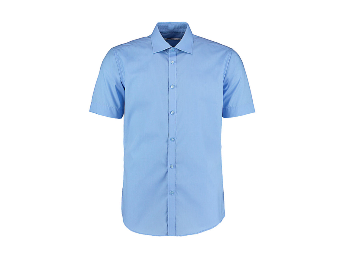 Kustom Kit Slim Fit Business Shirt, Light Blue, M bedrucken, Art.-Nr. 791113213