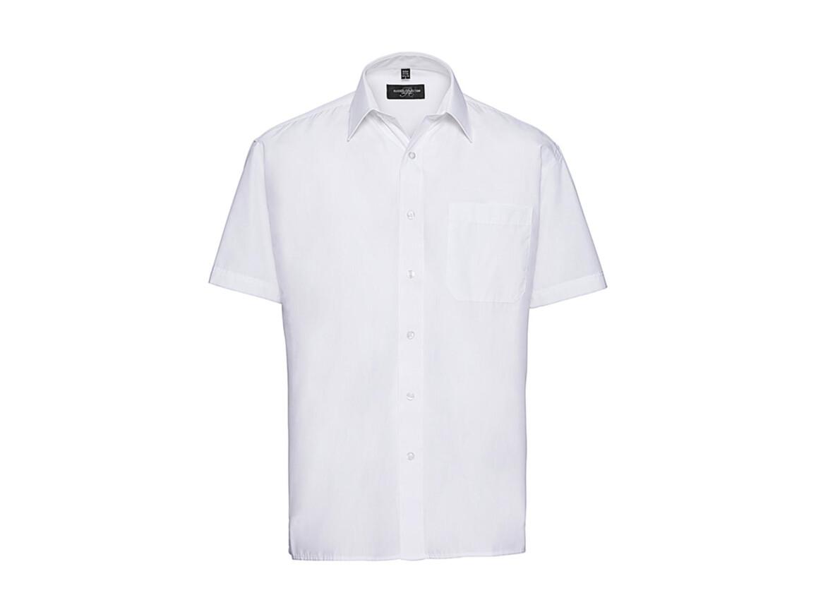 Russell Europe Poplin Shirt, White, 2XL bedrucken, Art.-Nr. 792000007