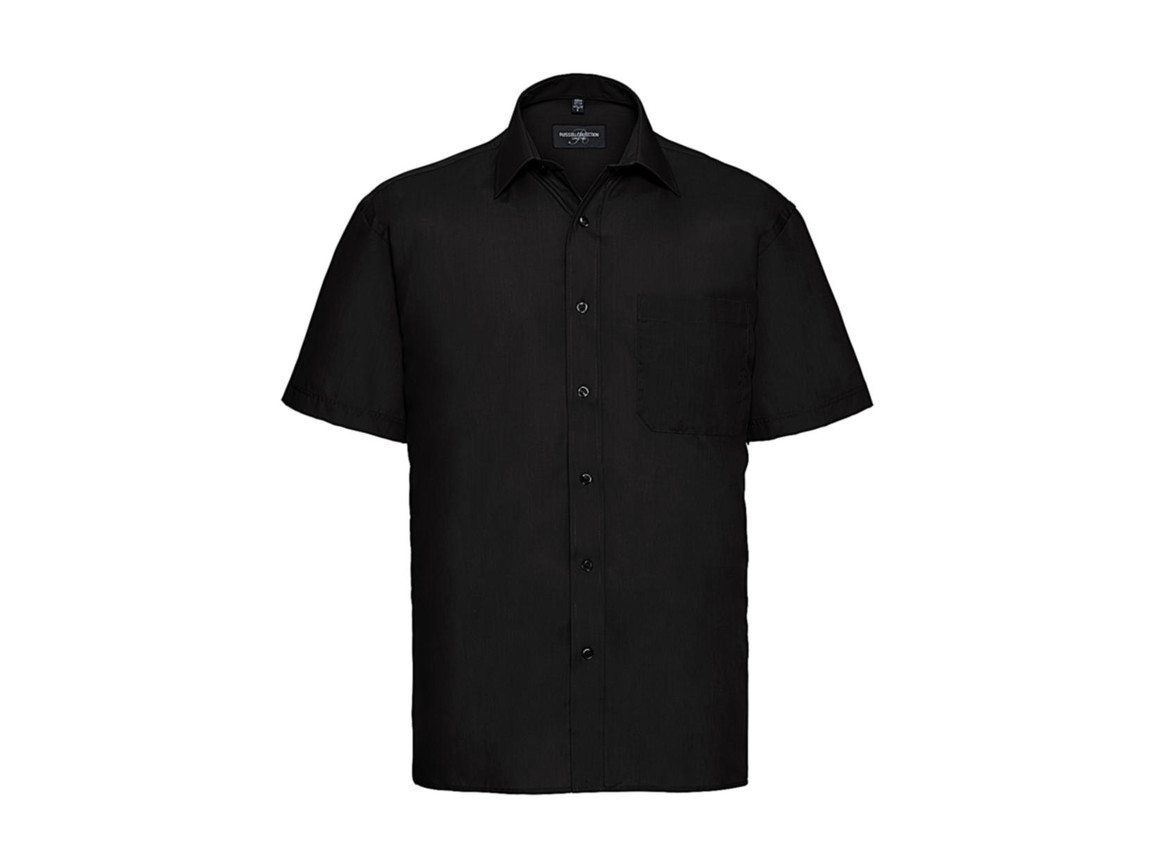 Russell Europe Poplin Shirt, Black, 2XL bedrucken, Art.-Nr. 792001017
