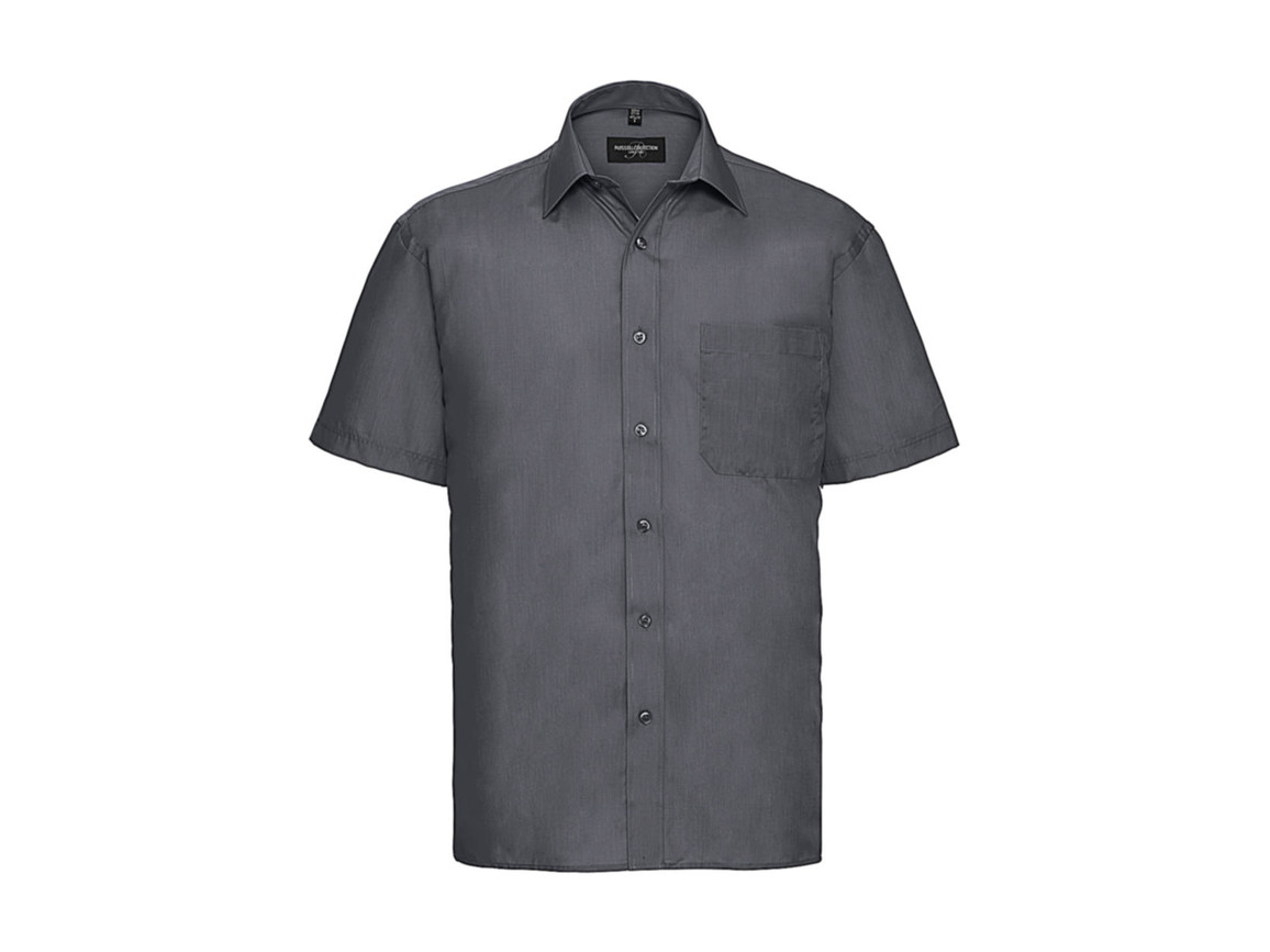 Russell Europe Poplin Shirt, Convoy Grey, 3XL bedrucken, Art.-Nr. 792001278