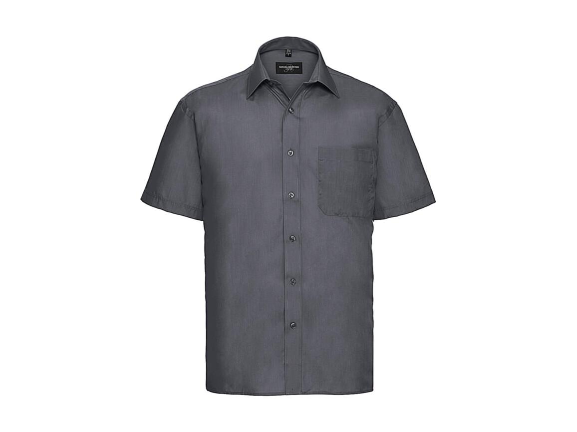 Russell Europe Poplin Shirt, Convoy Grey, 4XL bedrucken, Art.-Nr. 792001279