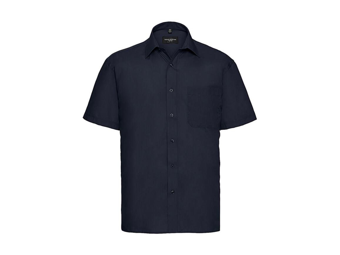 Russell Europe Poplin Shirt, French Navy, 2XL bedrucken, Art.-Nr. 792002017