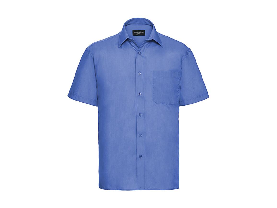 Russell Europe Poplin Shirt, Corporate Blue, 4XL bedrucken, Art.-Nr. 792002339