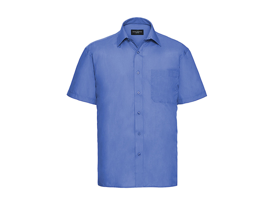 Russell Europe Poplin Shirt, Corporate Blue, S bedrucken, Art.-Nr. 792002333