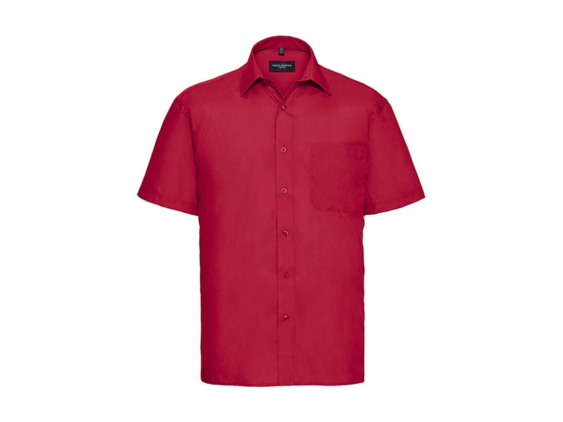 Russell Europe Poplin Shirt, Classic Red, L bedrucken, Art.-Nr. 792004015