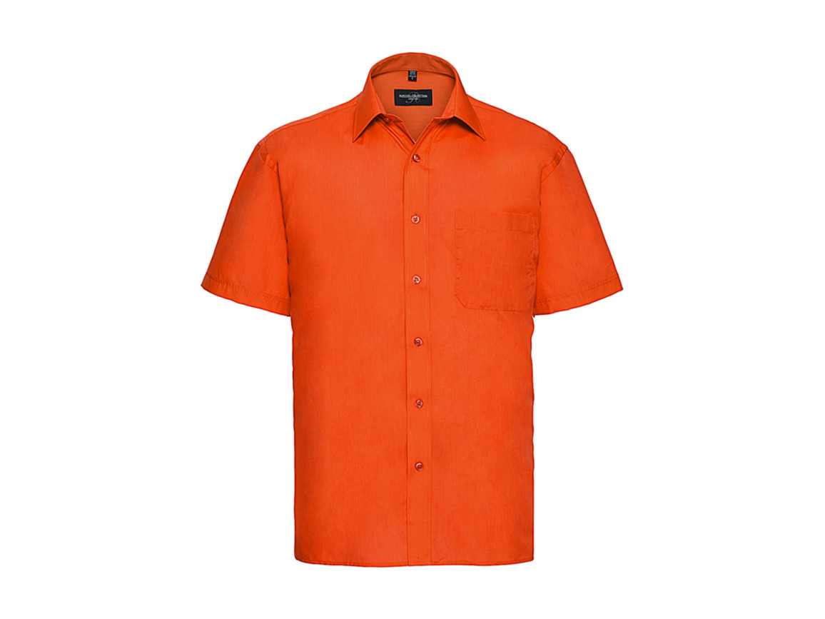 Russell Europe Poplin Shirt, Orange, 2XL bedrucken, Art.-Nr. 792004107