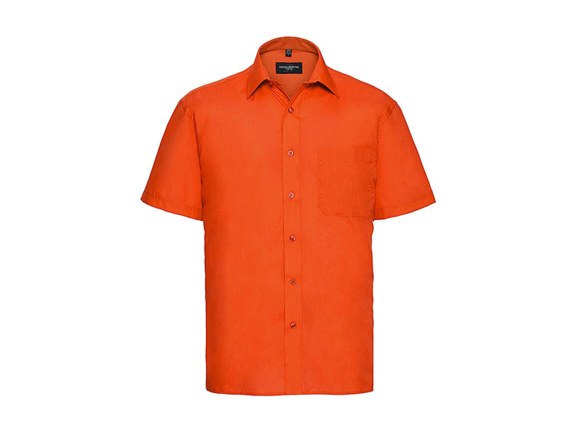 Russell Europe Poplin Shirt, Orange, 4XL bedrucken, Art.-Nr. 792004109