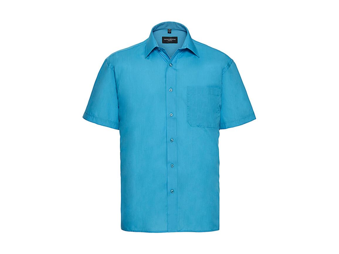 Russell Europe Poplin Shirt, Turquoise, XL bedrucken, Art.-Nr. 792005366