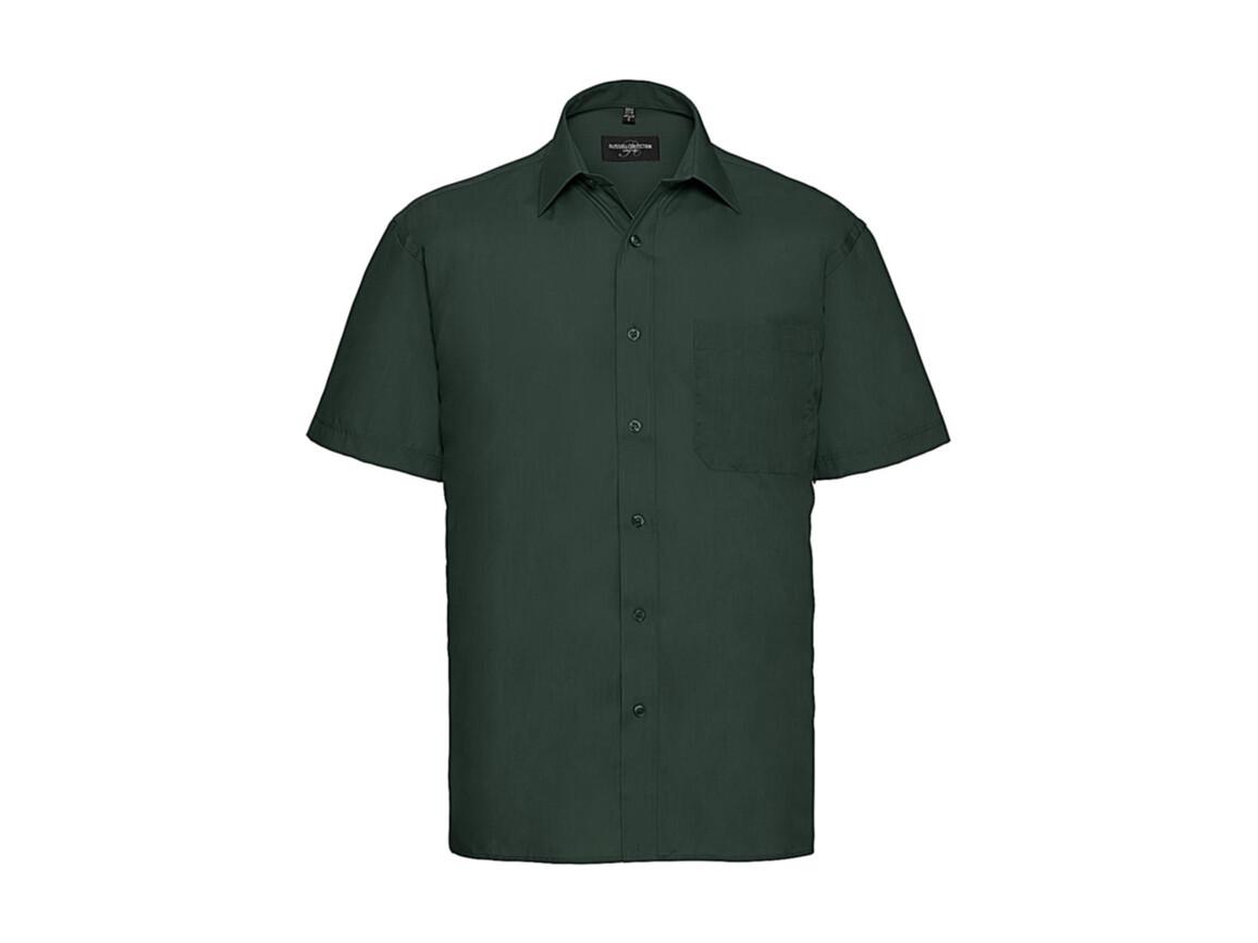 Russell Europe Poplin Shirt, Bottle Green, 4XL bedrucken, Art.-Nr. 792005409
