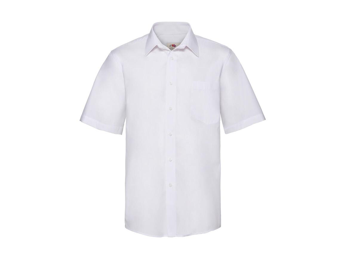 Fruit of the Loom Poplin Shirt, White, XL bedrucken, Art.-Nr. 792010006