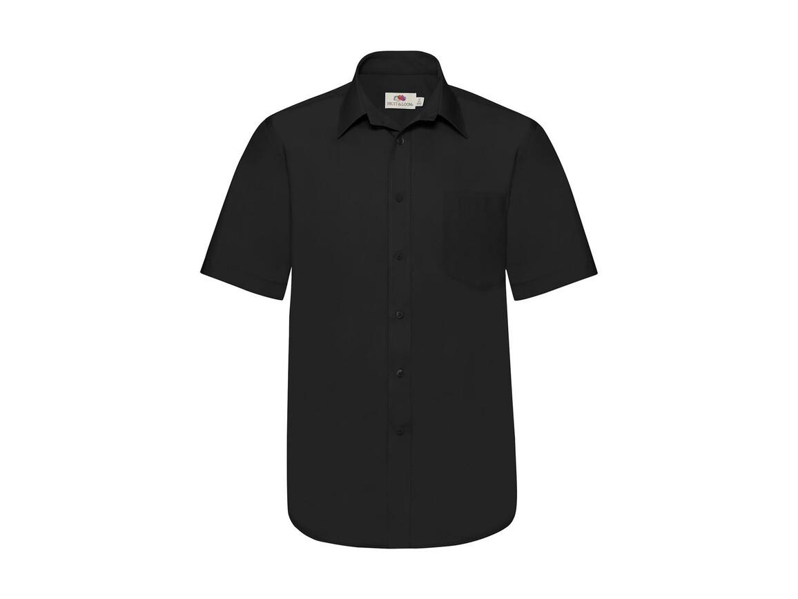 Fruit of the Loom Poplin Shirt, Black, M bedrucken, Art.-Nr. 792011014