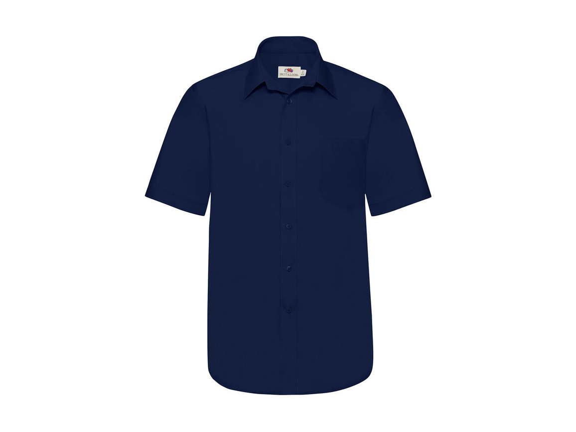 Fruit of the Loom Poplin Shirt, Navy, 3XL bedrucken, Art.-Nr. 792012008