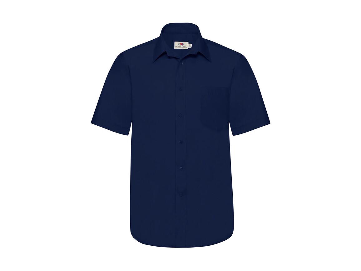 Fruit of the Loom Poplin Shirt, Navy, XL bedrucken, Art.-Nr. 792012006