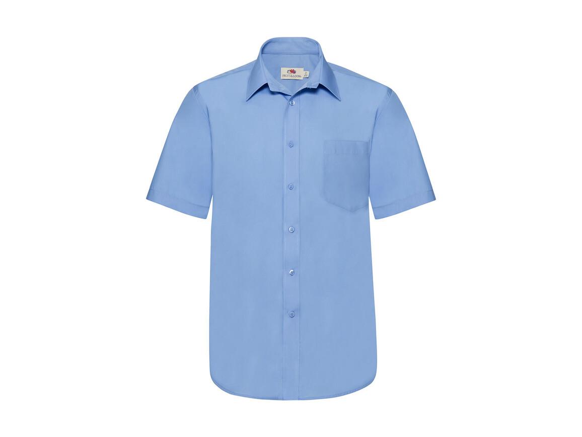 Fruit of the Loom Poplin Shirt, Mid Blue, M bedrucken, Art.-Nr. 792013374