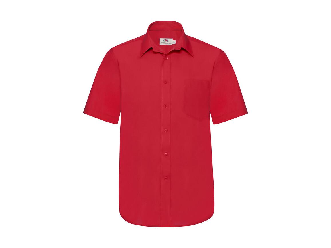 Fruit of the Loom Poplin Shirt, Red, XL bedrucken, Art.-Nr. 792014006