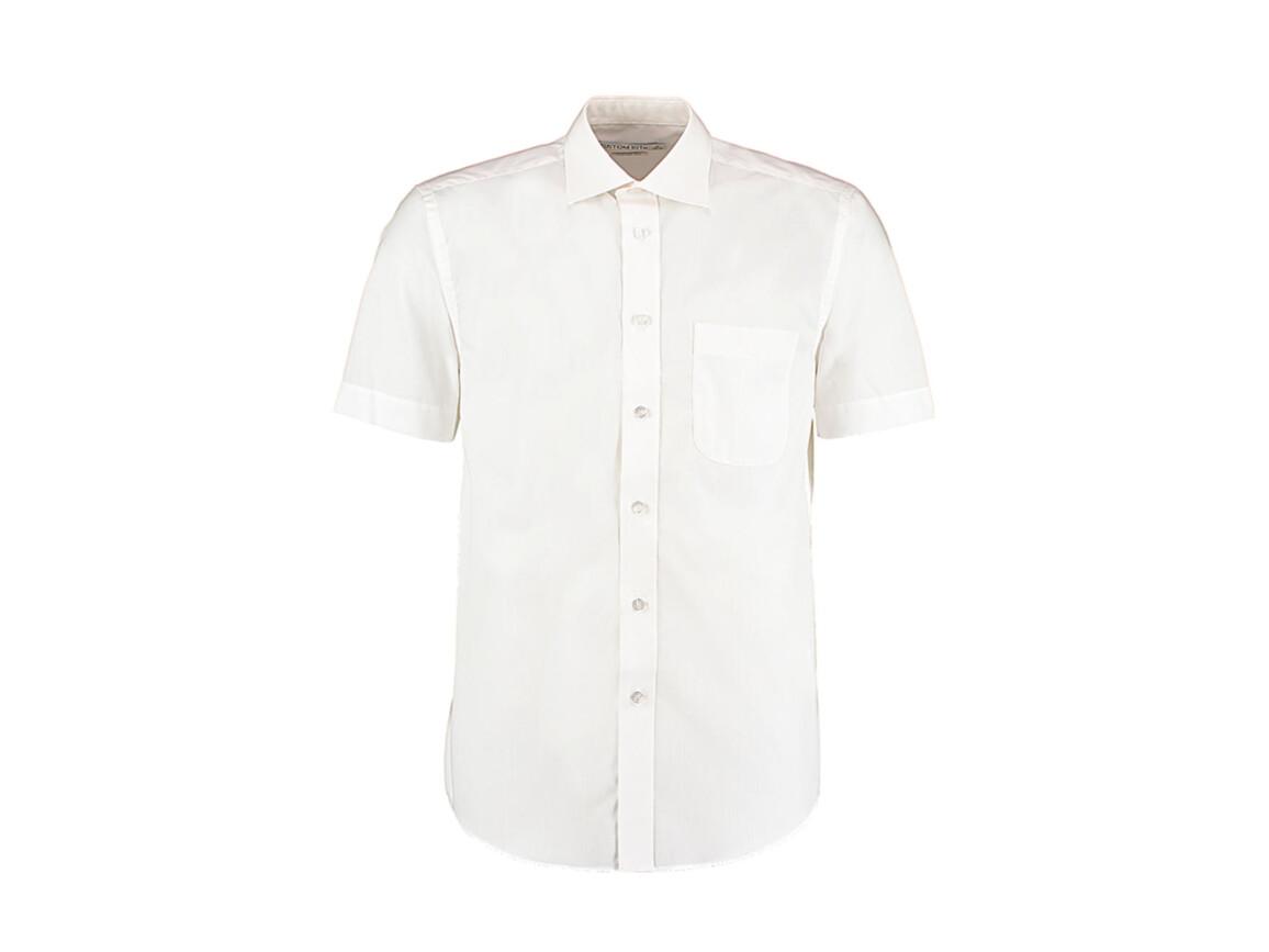 Kustom Kit Classic Fit Business Shirt SSL, White, S bedrucken, Art.-Nr. 792110001