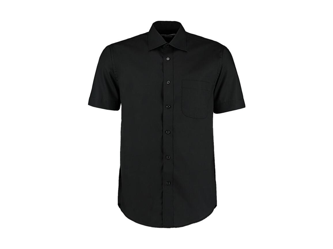 Kustom Kit Classic Fit Business Shirt SSL, Black, S bedrucken, Art.-Nr. 792111011